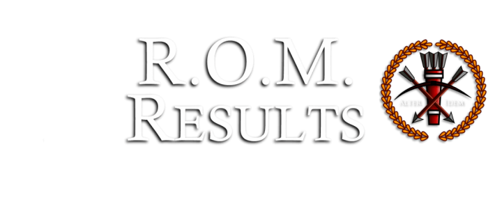 ROM Results text